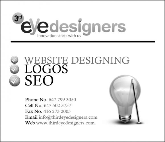 Third Eye Designers Inc.<br /> 2250 Bovaird Drive East, Suite # 418,<br /> Brampton<br /> ON L6R 0W3<br /> CANADA