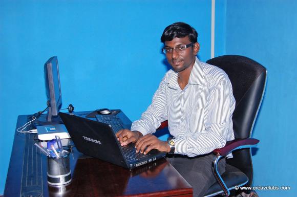 Founder & Creative Director - Mr.Jose Philip Raja at CreaveLabs Operating Office.