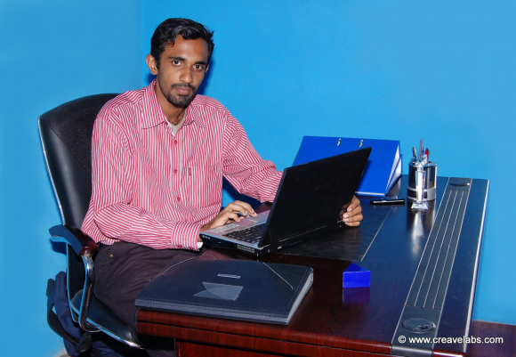 Founder & Business Director - Mr.Sajan Pappachen at CreaveLabs Operating Office.