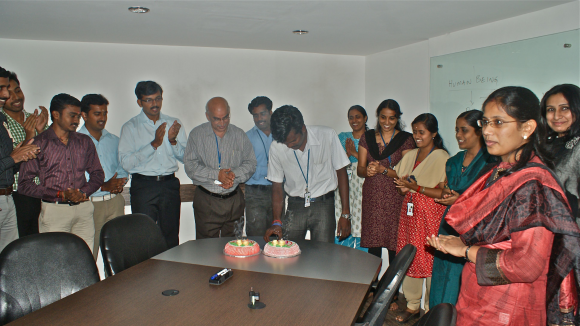A birthday celebration.
