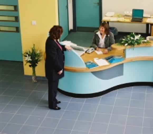 Purpose Media (UK) Ltd offices (Reception) - Mansfield I-Centre.