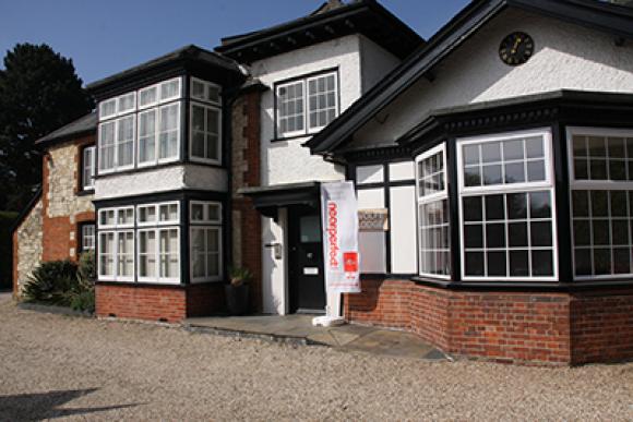 Outside Wolfe Lodge, (Nearperfect Media offices), Bordon, Hampshire