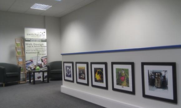 Artwork and reception area