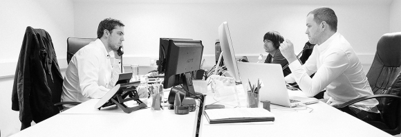 The design and development team hard at work.