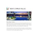 Rent Cyprus Villas