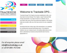 Trackside design print graphics