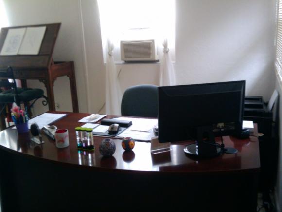 Our reception desk.